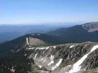 View from top of Santa Fe Baldy