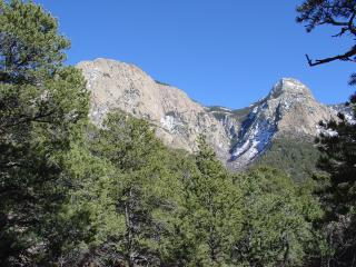 Sandia North Peak, seen from Piedra Lisa Trail